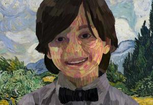 Ritratto in stile Van Gogh Portait in Van Gogh's style
