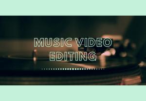Music video editing Montaggio di un video musicale